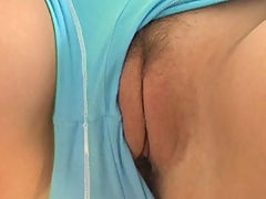 Alison Angel plays with her big boobs