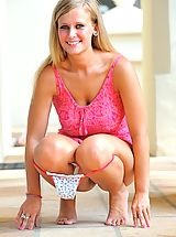 lingerie panties, Alice is pink and wet