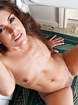 Small Titties, Anilos housewife Annabelle Genovisi spreads her hairy pussy in the laundry room