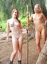 Tiny Tits, Nude hike with Lena and Melody