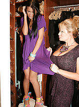 Amia sneaks in Kelly Madison's house, she gets caught and takes a punishment to her tight little teen pussy.