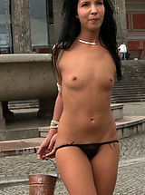 Tiny Tits, Euro babe gets more than she bargained for when she is tied up, helpless, and exposed on the streets