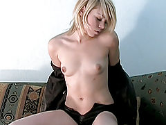 Stunning Nubile stimulates her clit with a vibrator